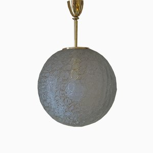 Large Handblown Glass Pendant from Doria Leuchten, 1960s
