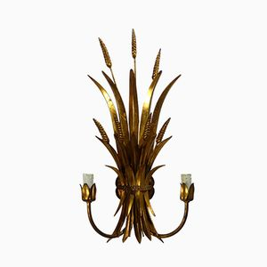 Vintage French Gilded Toleware Wall Sconce