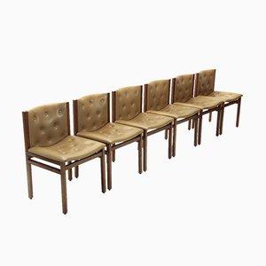 Esszimmerstühle von Tito Agnoli für La Linea, 1960er, 6er Set