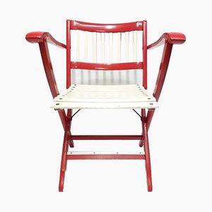 Italienischer Vintage Klappstuhl aus Holz von Fratelli Reguitti