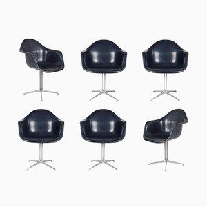 Blue Dax Chair mit LA Fonda Stuhlbeinen von Charles & Ray Eames für Herman Miller, 1970er