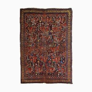 Antiker handgefertigter Khamseh Teppich, 1840er