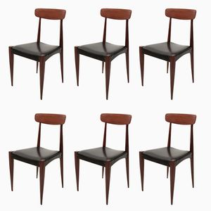 Italienische Esszimmerstühle, 1960er, 6er Set