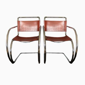 Model MR20 Side Chairs by Ludwig Mies van der Rohe, 1960s, Set of 2