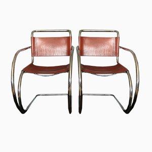 Sillas auxiliares modelo MR20 de Ludwig Mies van der Rohe, años 60. Juego de 2