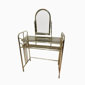 Vintage Metal & Glass Dressing Table, 1980s