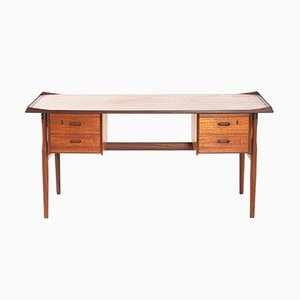 Danish Teak Desk from Lovig, 1960s