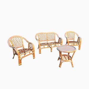 Vintage Rattan Lounge Set