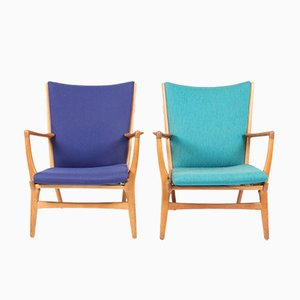 Model AP 16 Lounge Chairs by Wegner for A.P. Stolen, 1960s, Set of 2