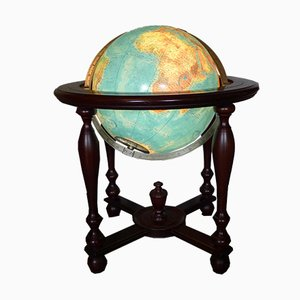Vintage Mahogany Library Globe by Columbus Oestergaard