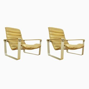 Pulkka Armchairs by Ilmari Lappalainen for Asko, 1960s, Set of 2