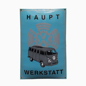 Vintage Enameled VW Volkswagen Advertising Sign