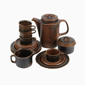 Ruska Coffee Set by Ulla Procope for Arabia, 1970s