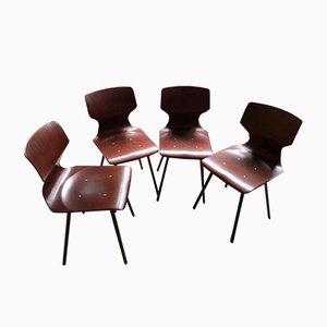 Nr. 4 Stühle von Pagholz Flötotto, 1960er, 4er Set