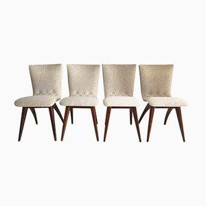 Esszimmerstühle von CJ van Os Culemborg, 1960er, 4er Set