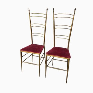Chiavari Chairs, 1950s, Set of 2