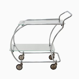 Vintage Art Deco Chrome Trolley