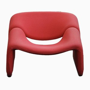Red Groovy Lounge Chair by Pierre Paulin for Artifort, 1970s