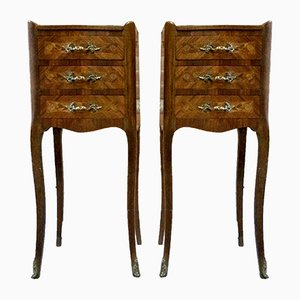 Antique Louis XV Styled Bedside Cabinets, Set of 2