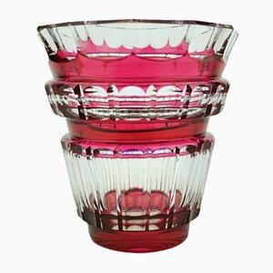 Art Deco Bolero Vase aus Glas von Charles Graffart für Val Saint Lambert, 1940er