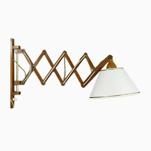 Lampe Ciseaux en Teck, 1960s