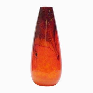 Vaso grande Art Déco in marmo arancione di Charles Schneide, anni '20