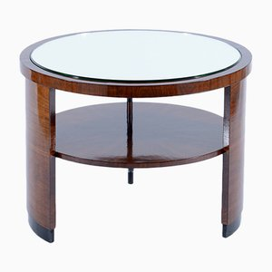 Art Deco Italian Mirror Topped Side Table, 1930s