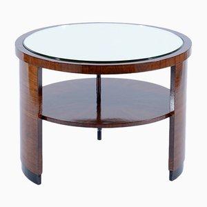 Tavolino Art Deco con ripiano specchiato, Italia, anni '30