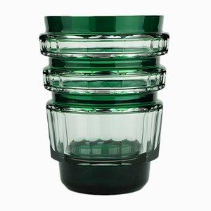 Art Deco Green Formosa Vase by Joseph Simon for Val Saint Lambert, 1930s