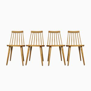 Pinocchio Chairs by Yngve Ekström, 1950s, Set of 4