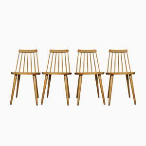 Pinocchio Stühle von Yngve Ekström, 1950er, 4er Set