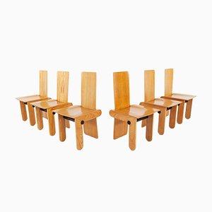 Esszimmerstühle von Carlo Scarpa für Gavina, 1970er