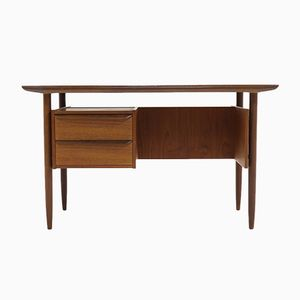 Teak Writing Desk by Tijsseling for Hulmefa, 1960s