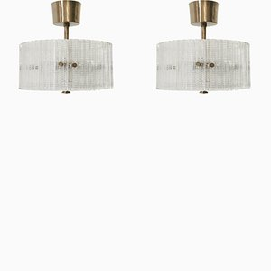 Ceiling Lights by Carl Fagerlund for Orrefors, 1970s, Set of 2