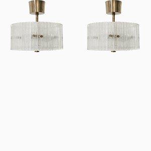 Lampade da soffitto di Carl Fagerlund per Orrefors, anni '70, set di 2