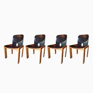 Model 121 Chairs by Afra & Tobia Scarpa for Cassina, 1960s, Set of 4