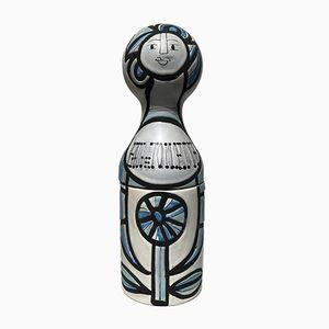 Bottiglia Russian Doll vintage in ceramica di Roger Capron