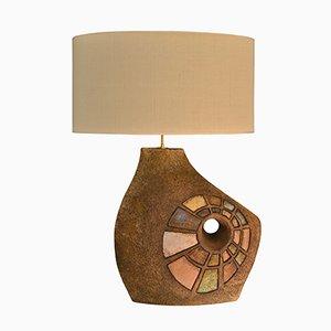Lámpara de mesa francesa de cerámica, años 60