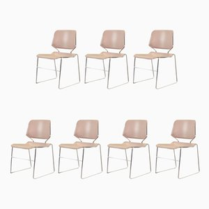 Stapelbare Matrix Stühle von Thomas Tolleson für Krueger, 1970er, 7erSet