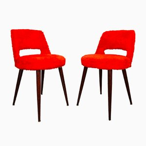 Vintage Red Chairs, Set of 2