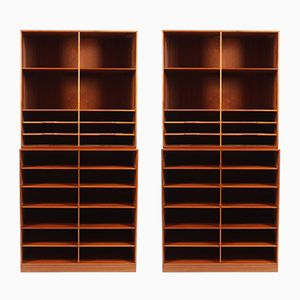 Bookcases by Mogens Koch for Rud. Rasmussen, Set of 2