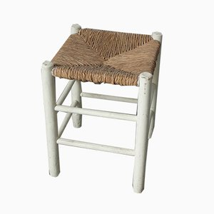 Vintage No. 17 Straw Stool by Charlotte Perriand for L'Equipement de la Maison