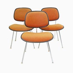 Sillas de comedor DCM de Ray & Charles Eames para Herman Miller, años 70. Juego de 3