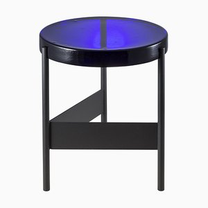Alwa Two 5600B-D Side Table with Blue Top & Black Base by Sebastian Herkner for Pulpo