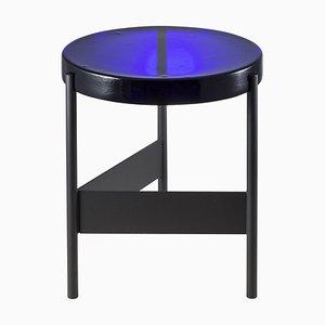 Table d'Appoint Alwa Two 5600B-D avec Plateau Bleu et Socle Noir par Sebastian Herkner pour Pulpo