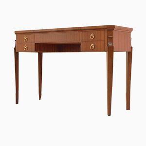 Table Console Shellac Art Deco en Acajou