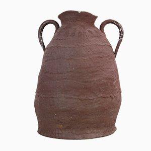Carafe Terracotta à Émail Stannifère par Toni De Jesus