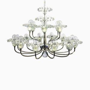 Lámpara de araña Mid-Century de 18 luces de Emil Stejnar para Rupert Nikoll
