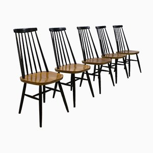 Vintage Dutch Spindle Back Dining Chairs from Pastoe, Set of 6