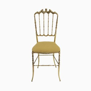 Italian Brass Chiavari Side Chair, 1950s